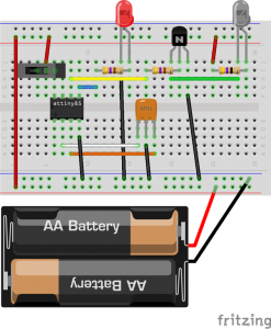 Diagram of the breadboard layout