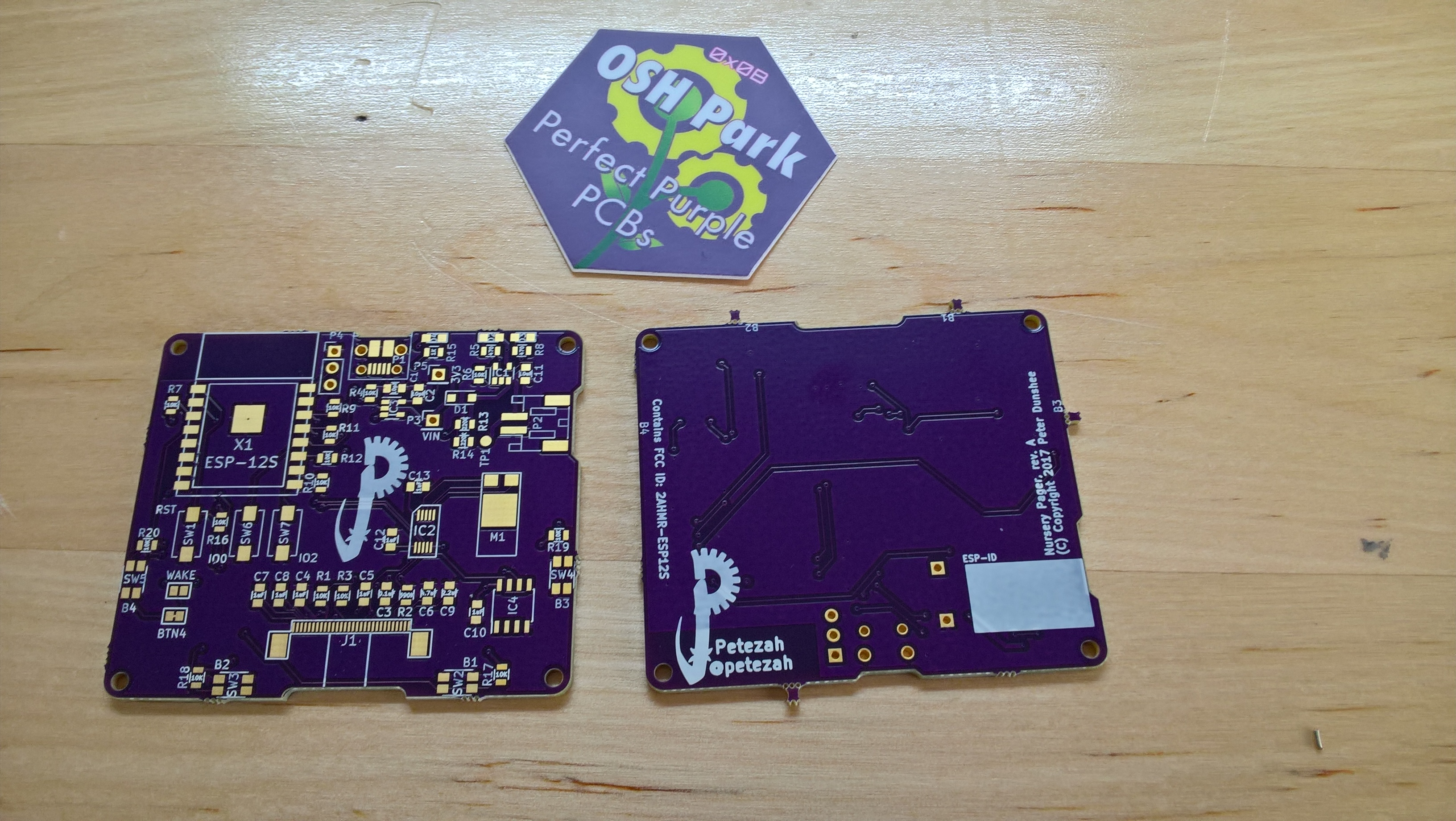 Revision A pager boards